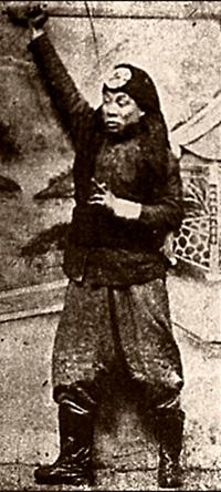 Příslušník povstání boxerů, rok 1900